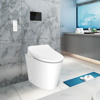 Electronic bidet soft closed seat cover