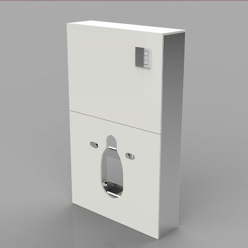 Pneumatic dual flushing system cabinet cistern