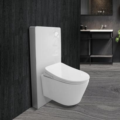 Electric Smart shower dusch seat  with cabinet cistern